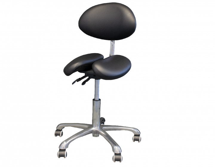Affinity Split Seat Saddle Backrest Stool
